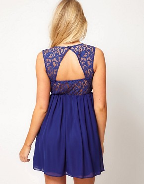 Image 2 ofASOS Maternity Skater Dress With Lace Back