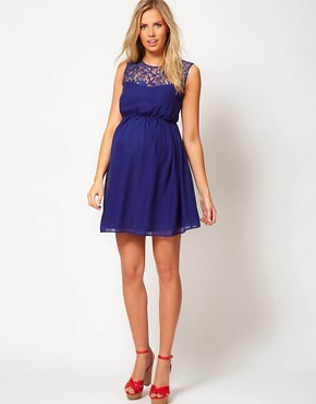 Image 4 ofASOS Maternity Skater Dress With Lace Back