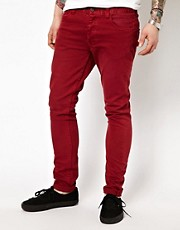 Insight Jeans City Riot Slim Fit Red Overdye