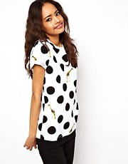 ASOS T-Shirt with Giraffe and Polka Dot