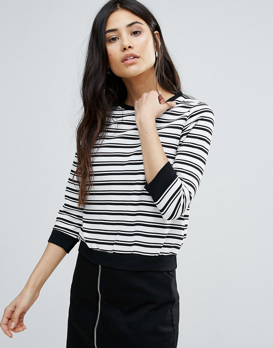 Girls On Film Monochrome Stripe Sweater - Multi