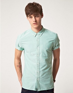 Image 1 ofASOS Oxford Short Sleeve Shirt