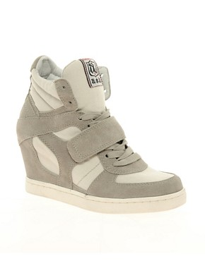 Image 1 ofAsh Cool Suede Strapped Wedge Trainers