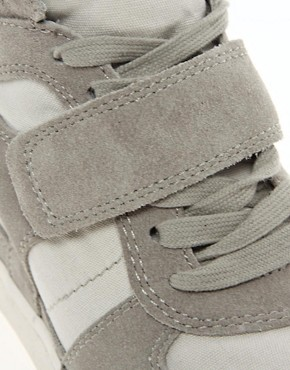 Image 3 ofAsh Cool Suede Strapped Wedge Trainers