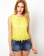 Darling Lace Top with Scallop Edge