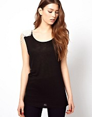 Club L Vest With Pearl Shoulder