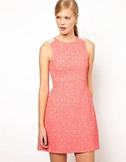 Whistles Daphne Animal Jacquard Dress