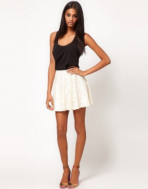 Image 1 ofASOS Skater Skirt in Lace