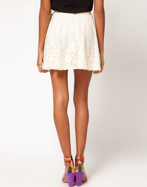 Image 2 ofASOS Skater Skirt in Lace