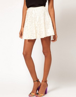 Image 4 ofASOS Skater Skirt in Lace