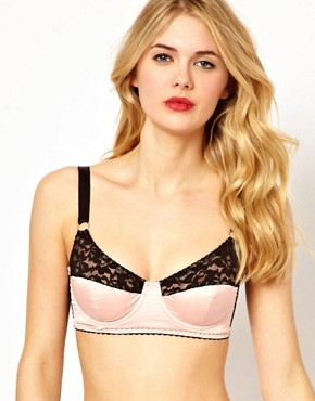 ASOS Boudoir Satin and Lace Longline Underwired Bra