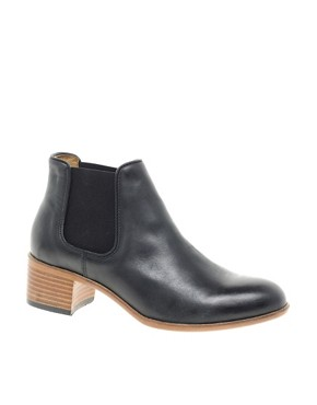Image 1 ofH by Hudson Bronte Black Heeled Ankle Boots