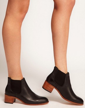 Image 3 ofH by Hudson Bronte Black Heeled Ankle Boots