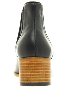 Image 4 ofH by Hudson Bronte Black Heeled Ankle Boots