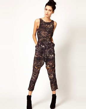 Image 1 of Edun Safari Print Jumpsuit