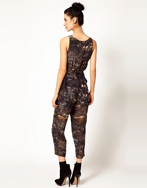 Image 2 of Edun Safari Print Jumpsuit