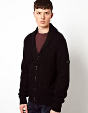 Ben Sherman Cardigan Shawl Collar