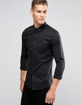 ASOS Super Skinny Shirt In Black