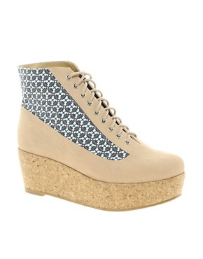 Image 1 ofASOS ALL ABOARD Flatform Ankle Boots