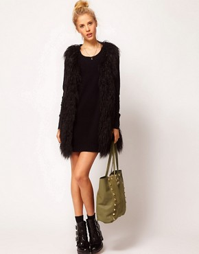 Image 3 ofASOS Suede Studded Shopper