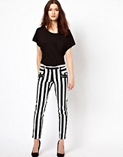Warehouse Bold Stripe Skinny Trouser