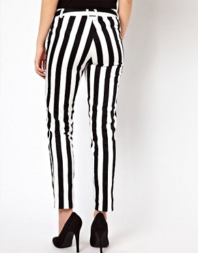Image 2 ofWarehouse Bold Stripe Skinny Trouser
