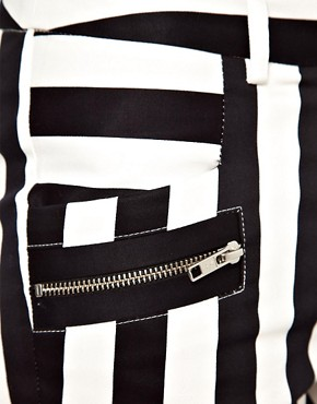 Image 3 ofWarehouse Bold Stripe Skinny Trouser