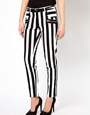 Image 4 ofWarehouse Bold Stripe Skinny Trouser