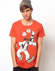 Solid T-Shirt With Goofy Print