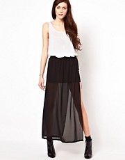 Vero Moda Mini Skirt With Mesh Overlay