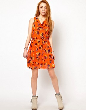 Image 4 ofThe Style Floral Dress With Drape Neck