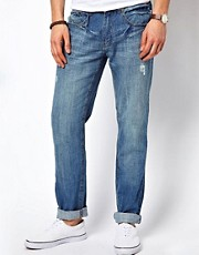 New Look Slim Fit Jeans with Rips