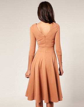 Image 2 ofASOS Midi Length Fit And Flare Dress
