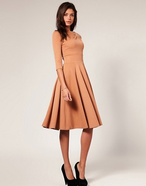 Image 4 ofASOS Midi Length Fit And Flare Dress