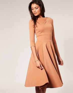 Image 1 ofASOS Midi Length Fit And Flare Dress