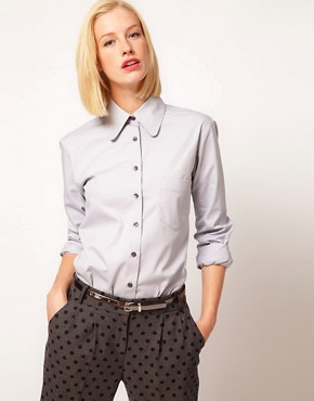 Image 1 ofASOS Coated Cotton Shirt