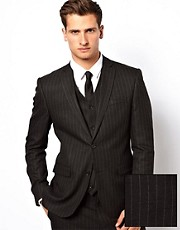 ASOS Skinny Fit Suit Jacket in Pinstripe