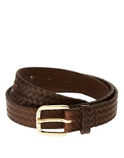 ASOS Leather Plait Emboss Belt