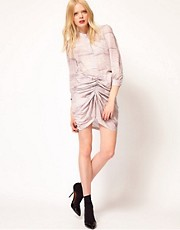 See by Chloe Gathered Skirt in Sand Print