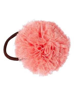 Image 2 ofOrelia Pom Pom Hair Bow