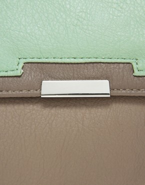 Image 4 ofASOS Satchel Bag With Metal Corners