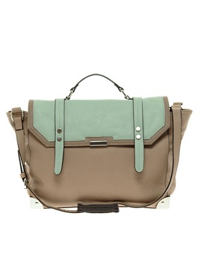 Image 1 ofASOS Satchel Bag With Metal Corners