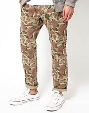 Edwin Chinos 55 Regular Tapered Camo Herringbone