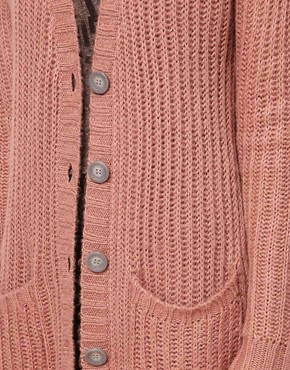 Image 3 ofASOS Chunky Rib Cardigan In Pastels