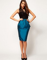ASOS Pencil Skirt With Structured Detail