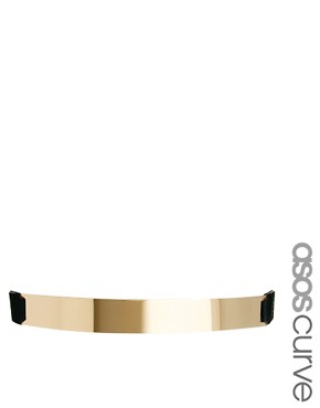 Imagen 1 de Cinturn elstico con placa de ASOS CURVE