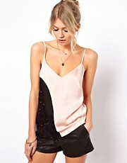 ASOS Cami in Colour Block and Sequin Panels