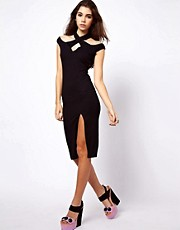 ASOS Bodycon With Off Shoulder and Cross Front