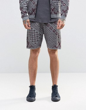 ASOS Knitted Shorts with Aztec Design