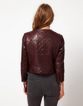 Image 2 ofUrban Code Quilted Leather Biker Jacket